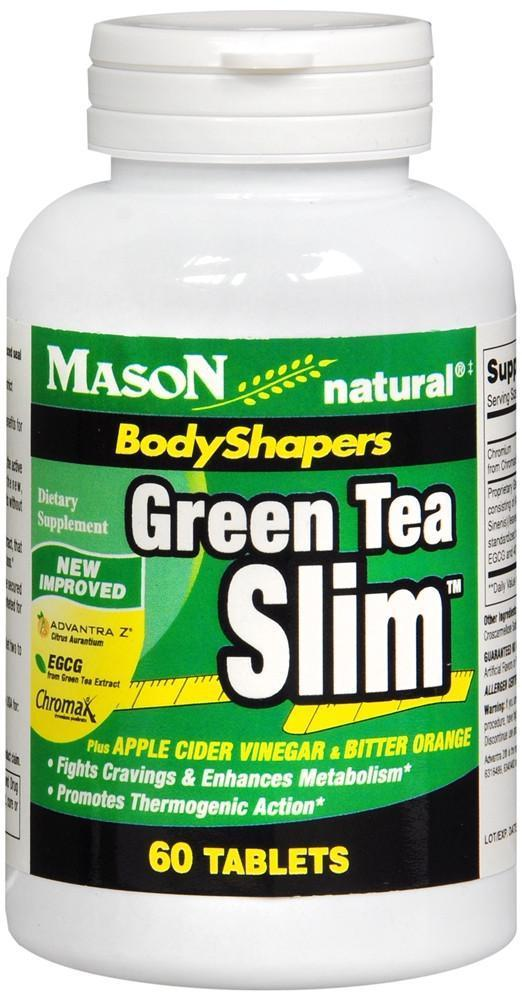 Mason Natural BodyShapers Green Tea Slim Tablets, 60 Tablets