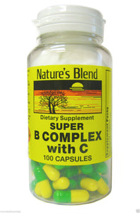 NATURE'S BLEND SUPER B WITH C CAPSULES, 100C