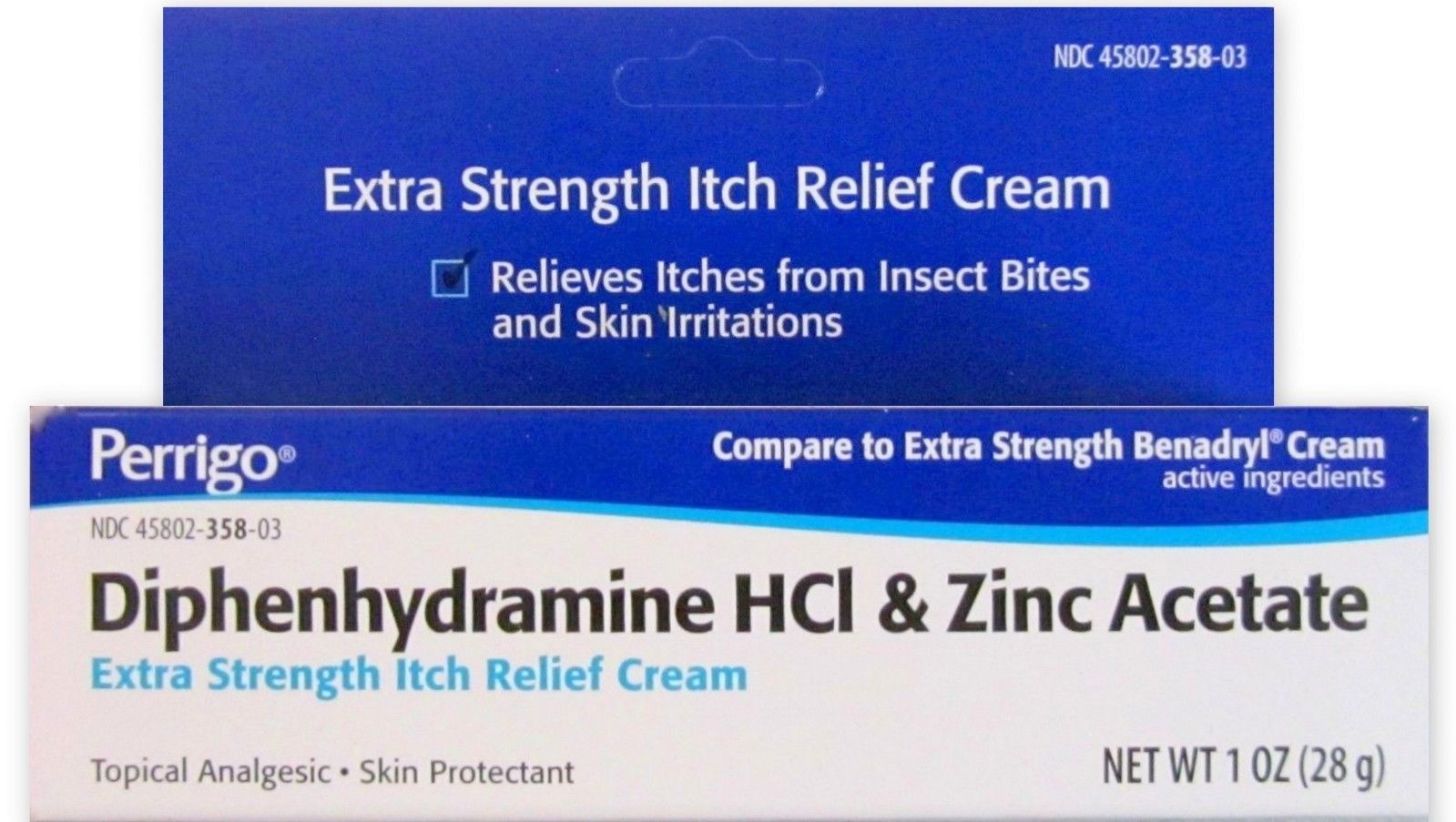 Perrigo Diphenhydramine Hci & Zinc Acetate Extra Strength Itch Relief Cream 1oz
