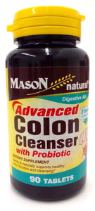 Mason Natural Advanced Colon Cleanser with Probiotic Tablets, 90 Tablets