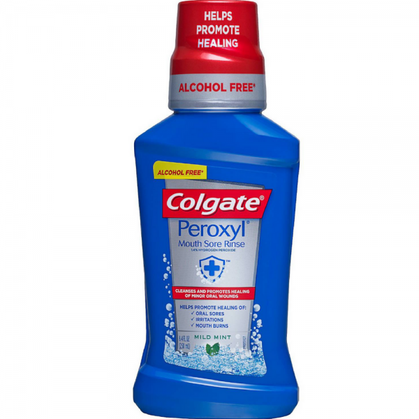 Colgate Peroxyl Antiseptic Oral Cleanser Mild Mint 8.4 oz (1 Pack)