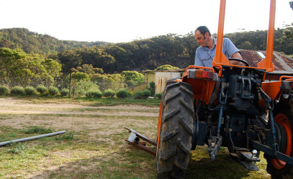 Straightening posts with Terence the tractor