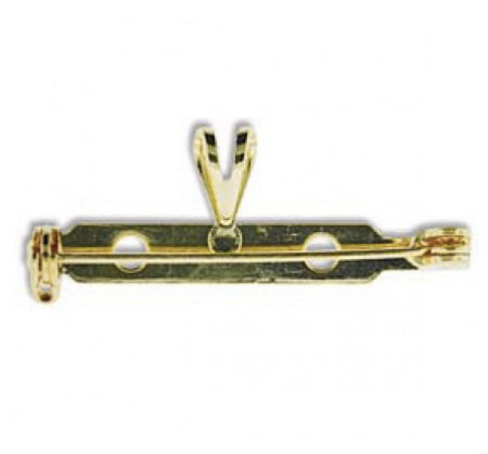 Brooch pin with necklace Loop set Gold plated 32 mm
