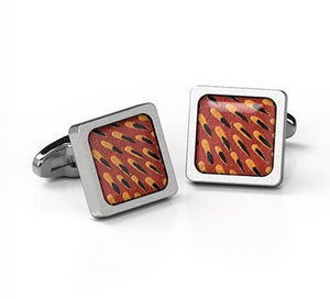 Cufflinks Echidna Spine Aboriginal design Square  - Allegria
