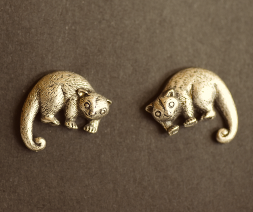 Possum Pewter Cufflinks Antique copper Plated: Peek -a- Boo