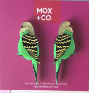 Budgie Green studs  by Mox + co