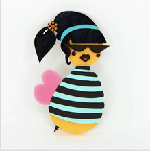 Load image into Gallery viewer, Beatnik Brooch by Daisy Jean + Rocklily gift earrings