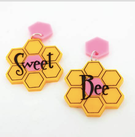 Sweet Bee Dangles Earrings  by Daisy Jean