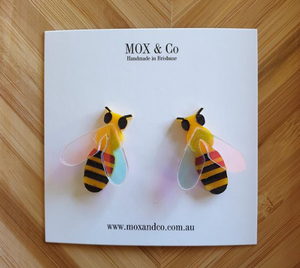 Bee studs by Mox + co