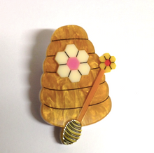 Load image into Gallery viewer, Beehive  Brooch by Daisy Jean + Rocklily gift earrings