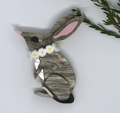 Bilby Brooch 3D by Mox + co   plus rocklily gift earrings