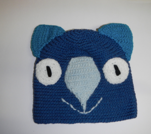 Copy of Drop bear, Wombat, Koala  Hat 100% Wool Child: 2 - 6  yrs  Real and pale blue