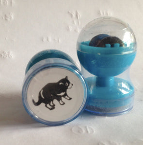 Tasmanian Devil double-sided self-inking stamp Blue ink