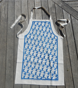 Koala Dark Blue Print Cotton Drill Apron