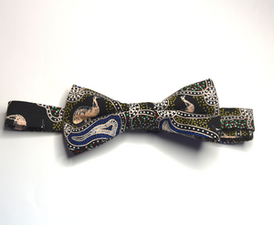 Bow Tie  Emu Dreaming  Unique Limited Edition By Rocklilywombats