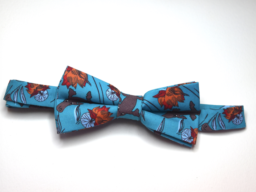 Bow Tie  Platypus Teal Unique Limited Edition By Rocklilywombats