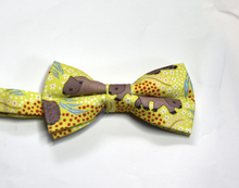 Load image into Gallery viewer, Bow Tie  Wombat Lime Unique Limited Edition By Rocklilywombats