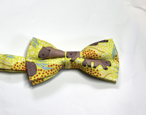 Bow Tie  Wombat Lime Unique Limited Edition By Rocklilywombats