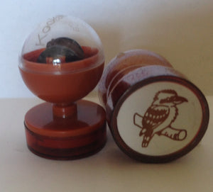 Kookaburra double-sided self-inking stamp Brown Ink