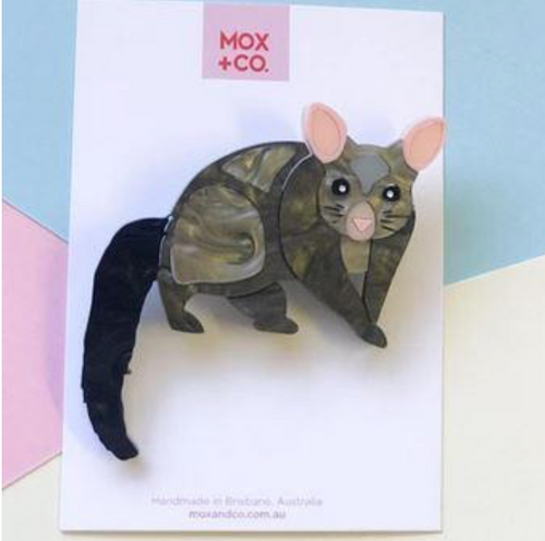 Brushtail Possum Brooch  by Mox + co