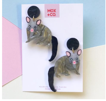 Brushtail Possum Dangles  by Mox + co