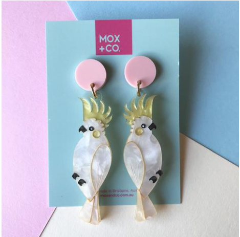 Cockatoo Dangles  by Mox + co