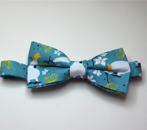 Bow Tie  White Cockatool Unique Limited Edition By Rocklilywombats