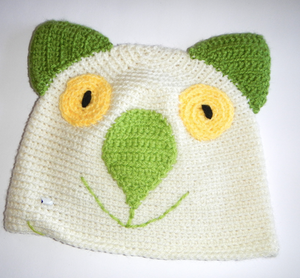 Drop bear, Wombat, Koala Hat 100% wool X Small Adult: Cream Green