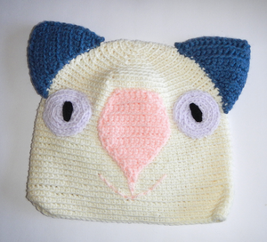 Drop bear, Wombat, Koala Hat 100% wool X Small Adult: Cream blue