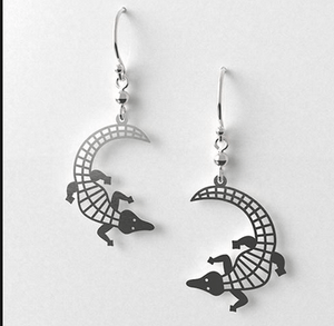 Crocodile earrings allegria rocklilywombats