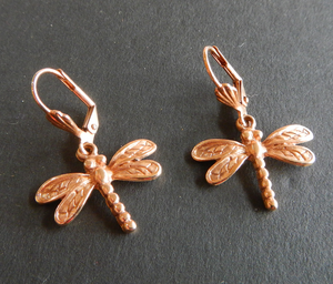 Dragon Fly   Earrings gold Plated: Peek-a-Boo