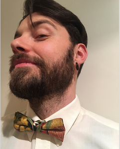 Bow Tie  Wildflowers  Unique Limited Edition By Rocklilywombats
