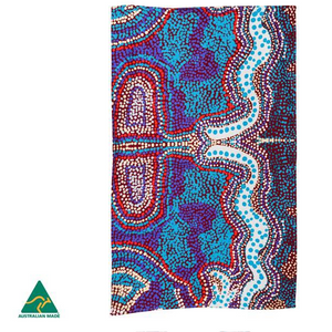 Elaine Lane Aboriginal design tea towel, made in Australia