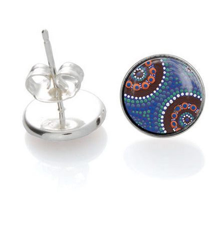 Camping Around Waterholes  Earrings - Allegria