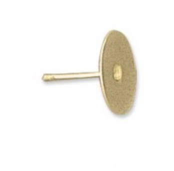 Earring stud Gold plated 10 mm pad 3 pairs