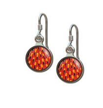 Load image into Gallery viewer, Echidna spine earrings round allegria rocklilywombats