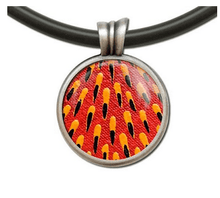 Load image into Gallery viewer, Echidna spine pendant round allegria rocklilywombats