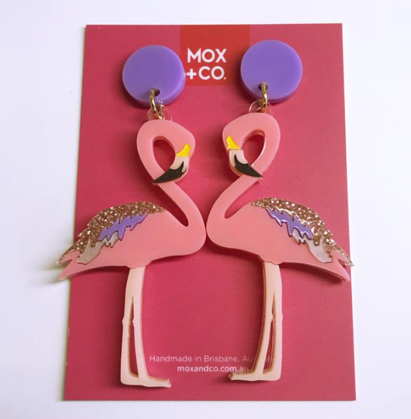 Flamingo Dangles by Mox + co