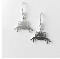Frog earrings allgeria rocklilywombats
