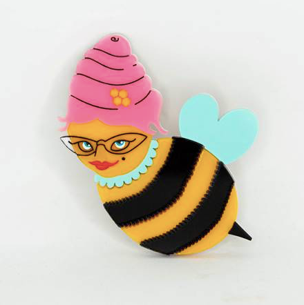 Gorgeous She Bee V2 Brooch by Daisy Jean+ Rocklily gift earrings