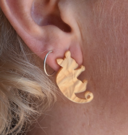Heavenly Creatures Ringtail Possum studs By Dianna