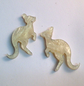 Heavenly Creatures Kangaroo studs By Dianna