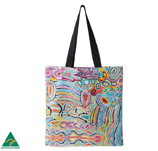 Judy Watson Aboriginal design Tote Bag, made in Australia