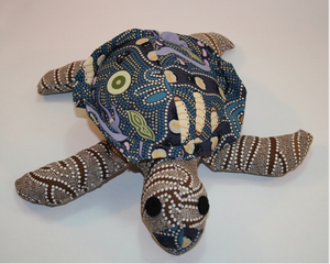 Julie Reef Sea Turtle toy ready for soft release to loveing home suitable under 3 yrs