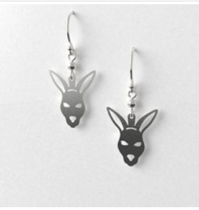 Kangaroo head  Earrings  Allegria Designs