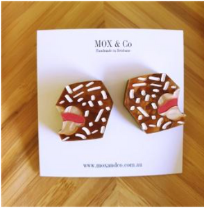 Lamington statement studs by Mox + co