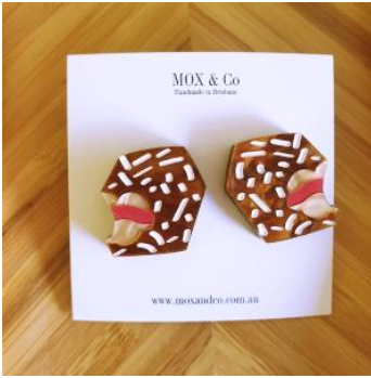 Lamington statement studs by Mox + co Due 24th Jan
