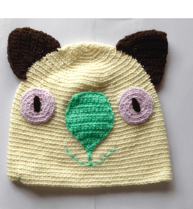 Large wombat koala drop bear hat rocklilywombats Cream