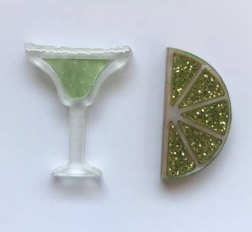 Lime and Margarita Statement Studs  by Mox + co
