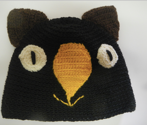 Drop bear, Wombat, Koala Hat 100% wool  Medium Adult: Black Brown